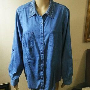 Style&Co, Cotton Jean shirt